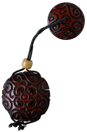 グリ彫り 印籠 根付 guribori inrou netuke