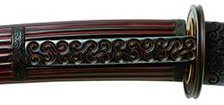 グリ彫り 脇差拵 guribori wakizashi koshirae