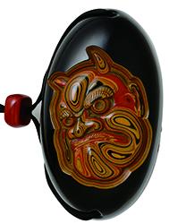 グリ彫り とんこつ 煙管入れ guribori tonkotsu kiseruire
